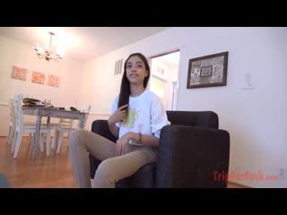 Harmony Wonder - TripForFuck ## POV JAV amwf petite skinny brunette teen casting lingerie sex porn