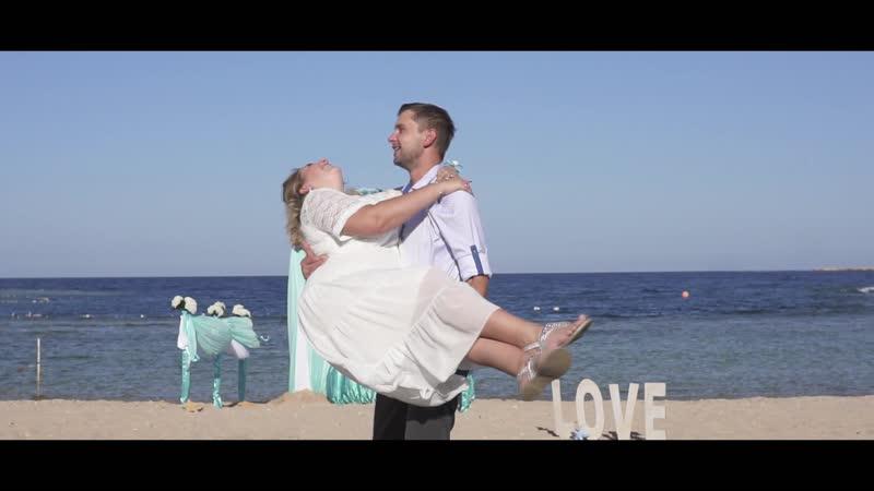 Свадебная церемония на пляже. Египет, Хургада.