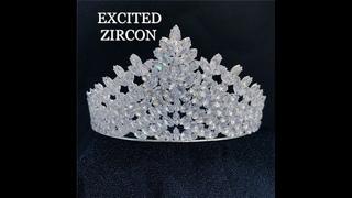 Женская модная роскошная изящная корона из циркона, головной убор для пляжа, свадьбы, невесты