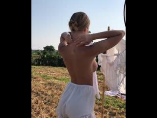 Polina Malinovskaya Сексуальная модель ню позирует красивая попа секс большая грудь голая приват порно в белье 1080 18+ Brazzers