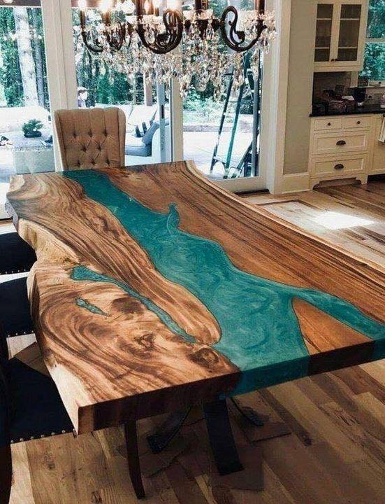 Замечательные столы из эпоксидной смолы