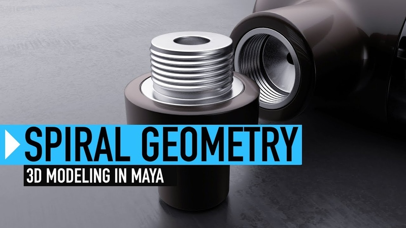 Creating Spiral Geometry in Maya
