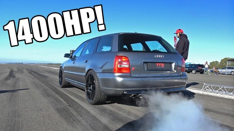 1400HP Audi S4 B5 V6 Biturbo TTD 311Km h Brutal Accelerations