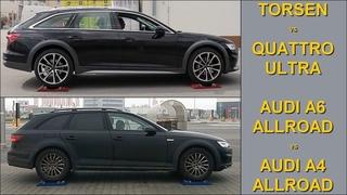 2020 Audi A6 Allroad vs Audi A4 Allroad - TORSEN vs Quattro ULTRA - 4x4 test on rollers