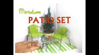Easy DIY Patio Set Dollhouse Miniature Furniture