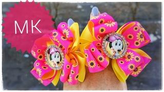 🎀Яркие весенние бантики канзаши для малышек из репсовых лент.Bright spring kanzashi bows for babies.