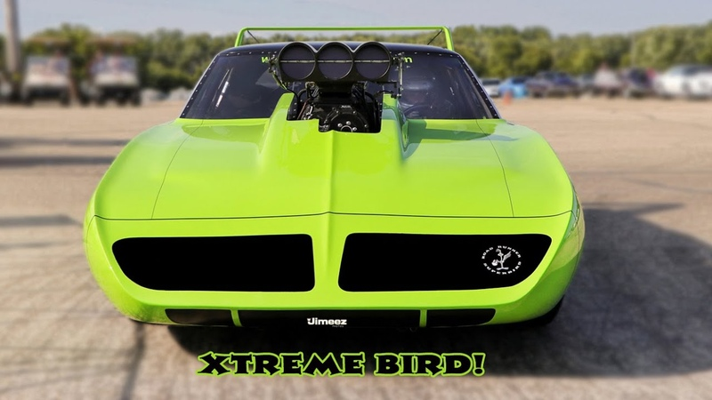 XTREME BIRD '70 SUPERBIRD BLOWN HEMI 6 SEC 200MPH SHAKEDOWNS BYRON