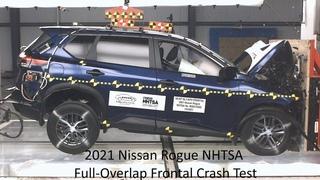 2021 Nissan Rogue / X-Trail NHTSA Full-Overlap Frontal Crash Test (Built Before Jan 28, 2021)
