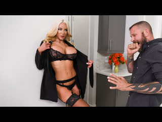 Nicolette Shea - An Intense Affair  [2020 г., Bald Pussy, Big Ass, Big Tits, Black Stockings, Blonde, Blowjob (POV)]