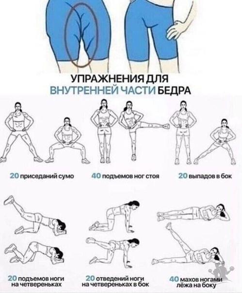 Упражнения для похудения задних ляшек