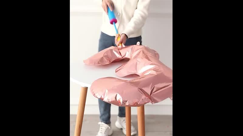 1 шт 40 дюймов голубой розовый воздушные шары из фольги в виде