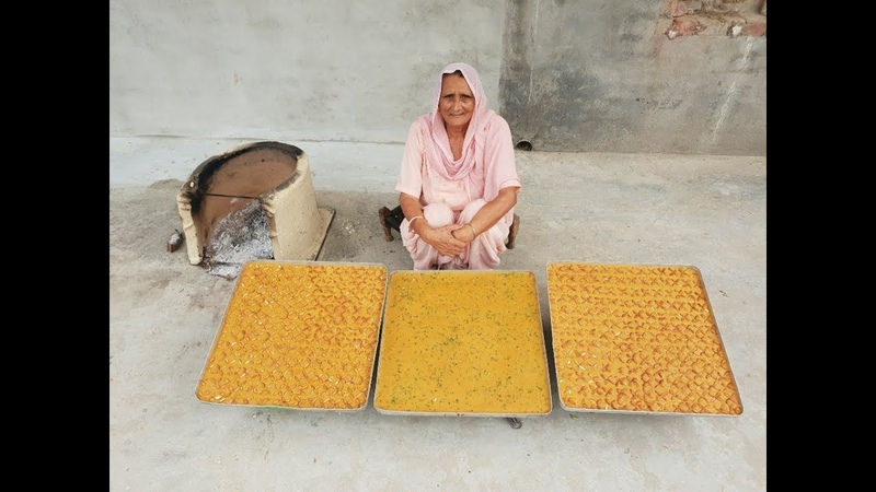 बेसन की बर्फी बनाने का आसान तरीका / besan ki burfi / besan barfi recipe hindi / veg village food