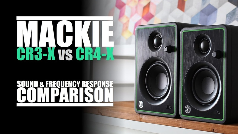 Mackie CR3-X vs Mackie CR4-X    Sound, Distortion Frequency Response Comparison