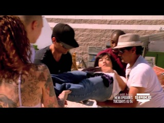 Criss Angel BeLIEve  Criss Impales A Woman With A Spike On Spike